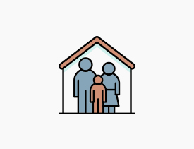 Animated family icon