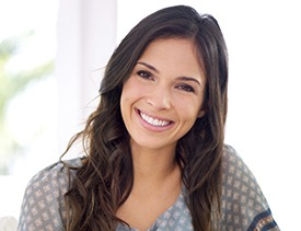 Smiling woman following teeth whitening