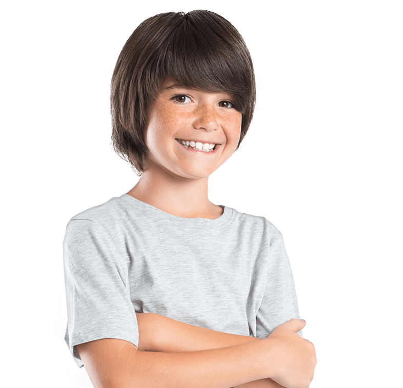 Young boy with healthy happy smile